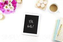 Styled Stock Photo ~ iPad on Desktop