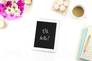 Styled Stock Photo ~ iPad on Desktop