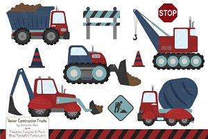 Americana Vector Construction Trucks