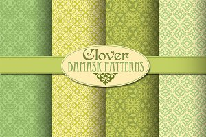 Clover Damask Patterns