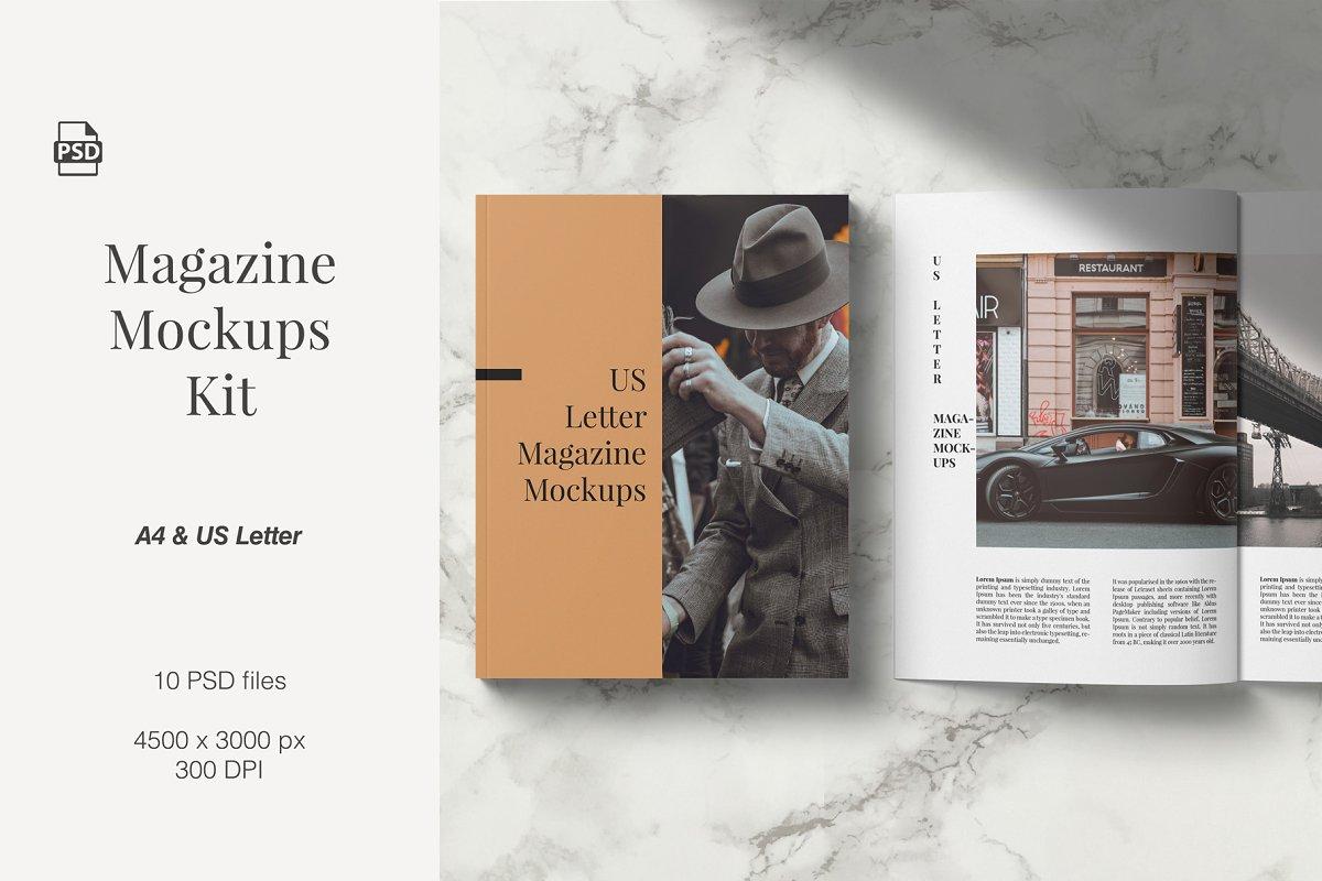 Magazine Mockup Kit