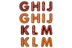 Gingerbread alphabet letters from G