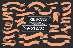 Hand Drawn Ribbons (vector pack)