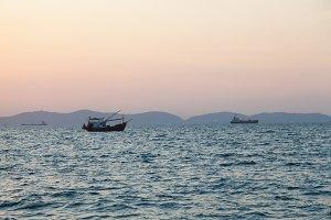 Fishing boat in sea