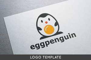 Egg Penguin Logo