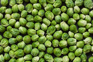 Brussel sprout, top view