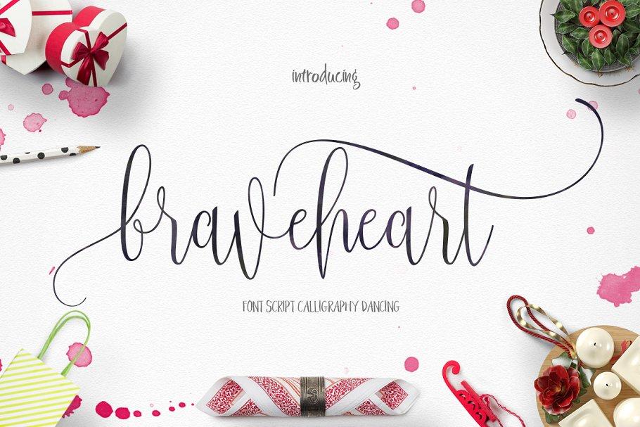 Braveheart Script Fonts Creative Market