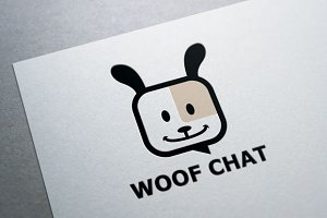 Woof Chat Logo Template