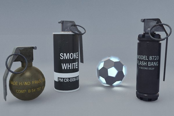 3D Weapons - Grenades Pack