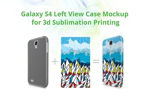 Galaxy S4 3d Sublimation Left Mockup