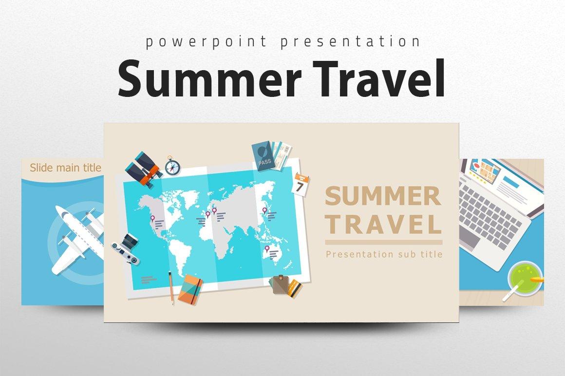 Summer Travel Powerpoint Template Creative Powerpoint Templates Creative Market