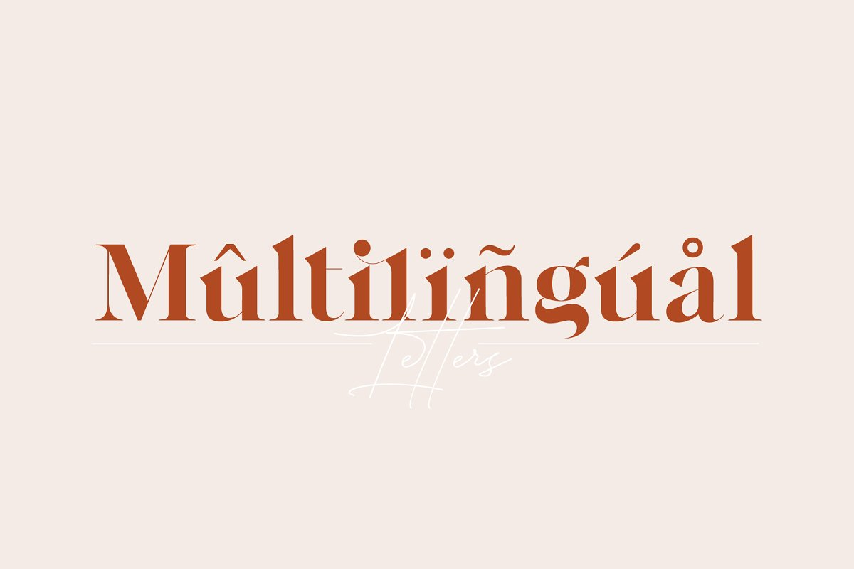 Sophillia - Ligature Serif Font in Serif Fonts - product preview 2