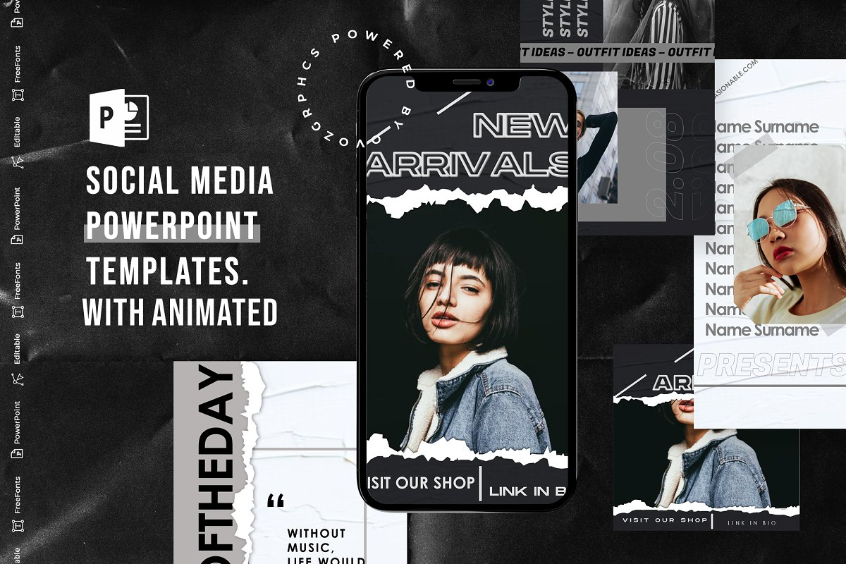 Social Media PowerPoint Template V.1