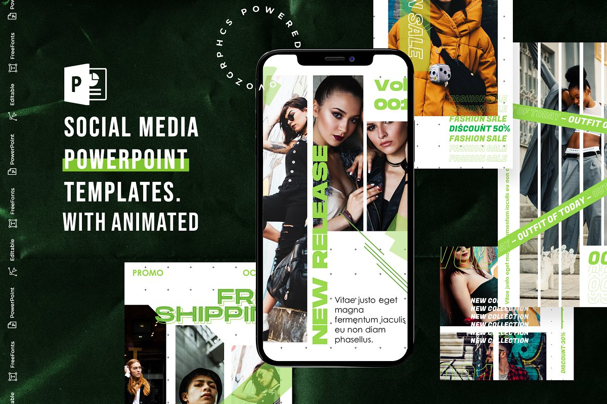 Social Media PowerPoint Template V.2