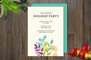 Holiday Non-Photo Invitation