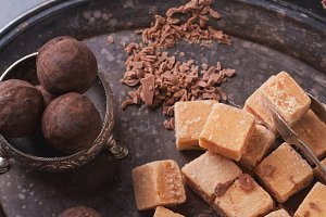 Creamy Fudge candies and truffles