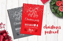 Christmas postcard, 2 color design