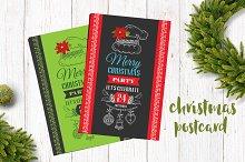 Christmas postcard,2 color design #3