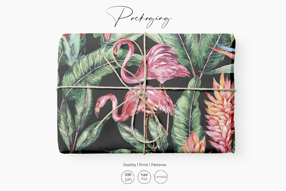 Flamingo, Patterns Set! in Patterns - product preview 2