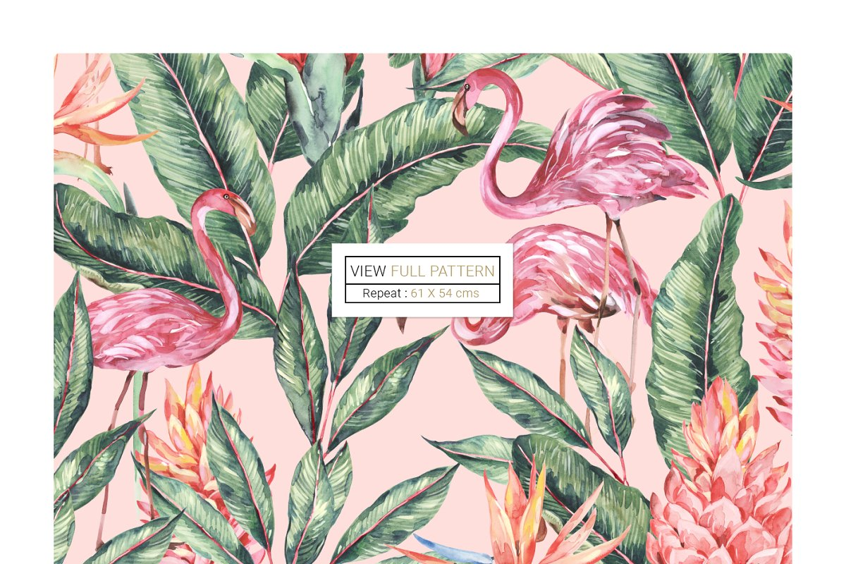 Flamingo, Patterns Set! in Patterns - product preview 5