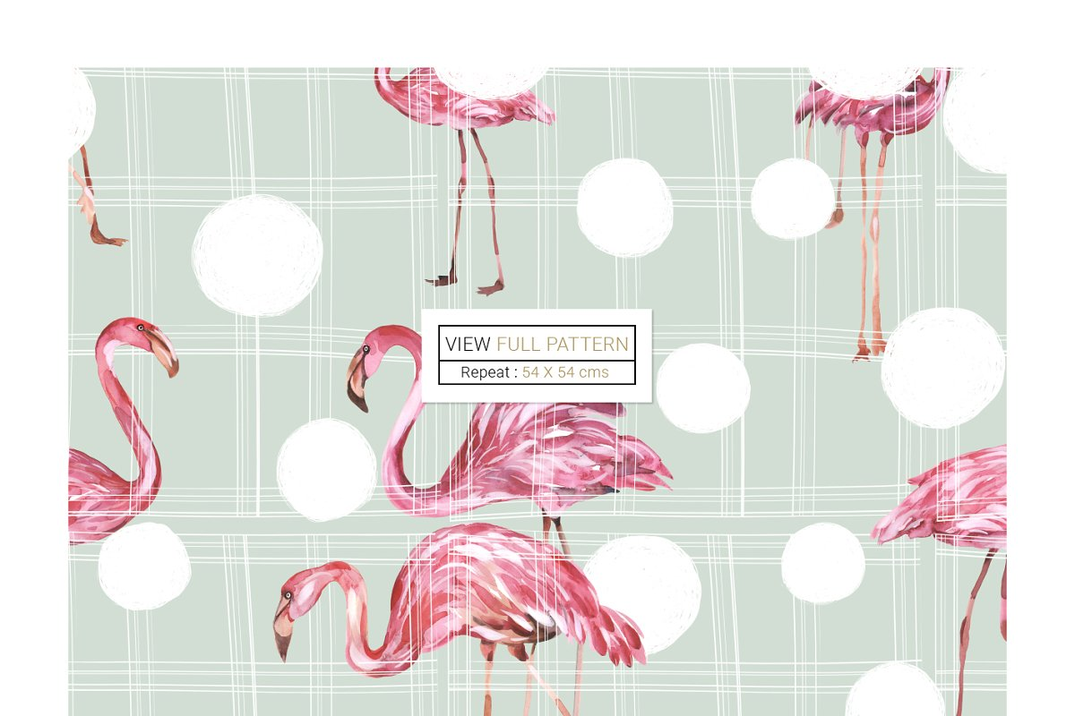 Flamingo, Patterns Set! in Patterns - product preview 7
