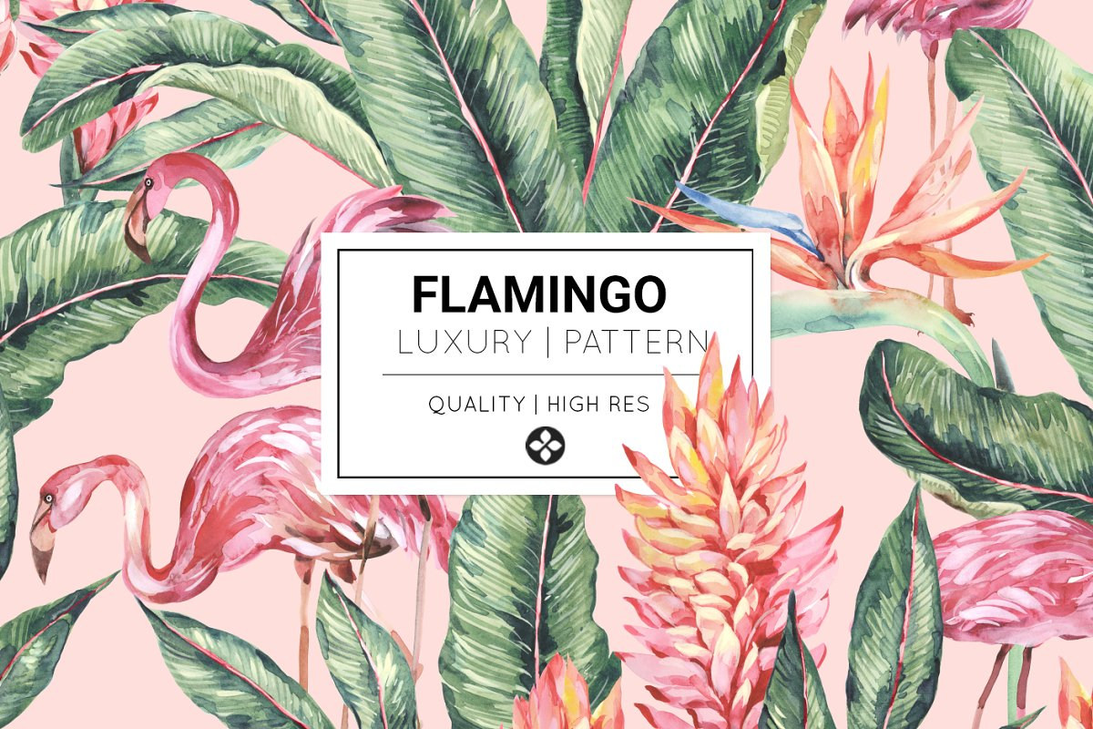 Flamingo, Patterns Set! in Patterns - product preview 8