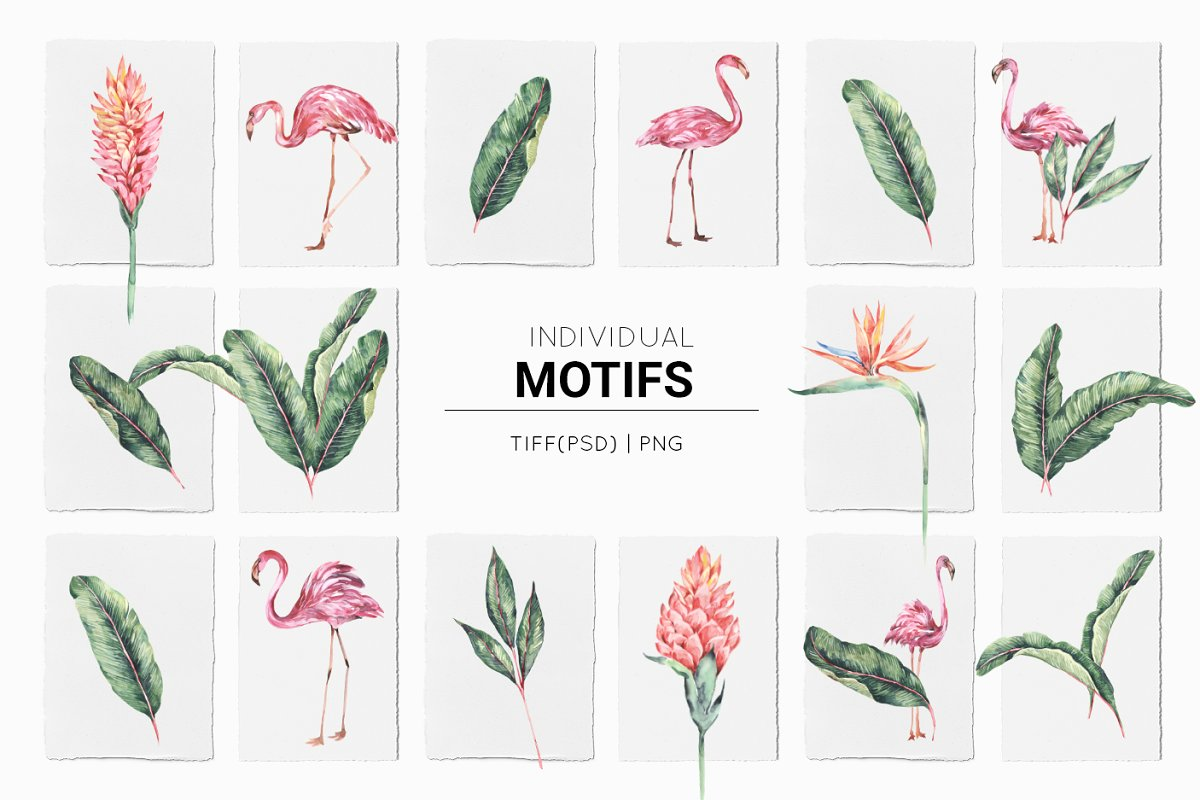 Flamingo, Patterns Set! in Patterns - product preview 13
