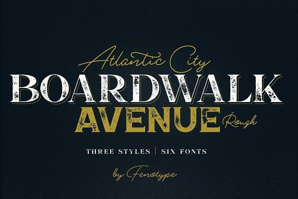 Boardwalk Avenue Rough Font Bundle