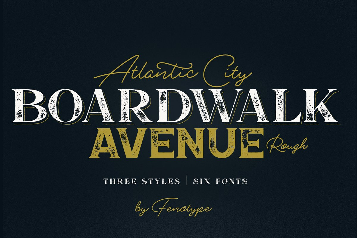 Boardwalk Avenue Rough Font Bundle in Display Fonts - product preview 8