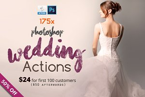 175 Photoshop Wedding Actions