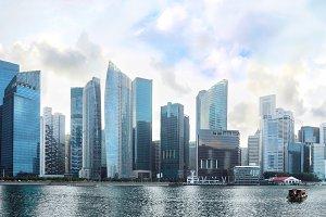 Famous Singapore Downtown Core