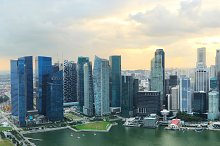 Aerial panoramic view of Singapore