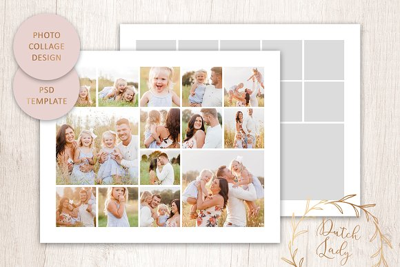 Psd Photo Collage Template 1 Creative Stationery Templates