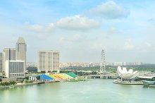 Singapore cityscape in the sunshine