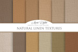 Natural Linene Textures - Papers