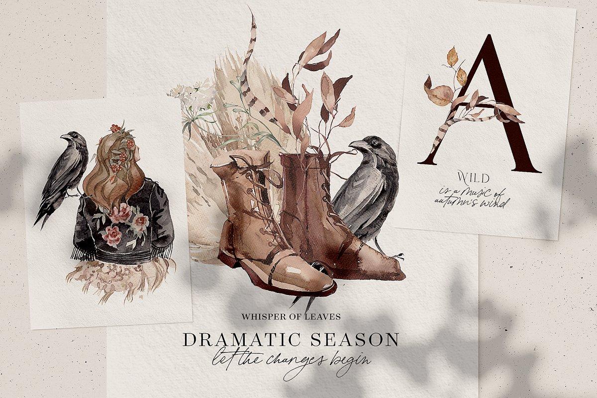 Dramatic Season Alphabet&Graphics