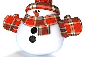 Snowman 3d Render