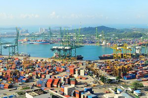 Singapore industrial port