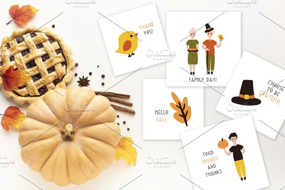 Thanksgiving Font and Graphics Pack in Display Fonts - product preview 1