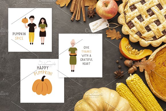 Thanksgiving Font and Graphics Pack in Display Fonts - product preview 4