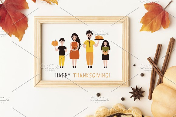 Thanksgiving Font and Graphics Pack in Display Fonts - product preview 5
