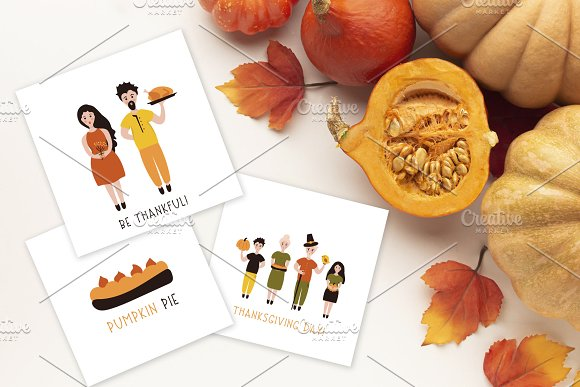 Thanksgiving Font and Graphics Pack in Display Fonts - product preview 7