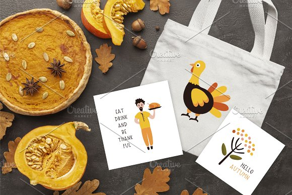 Thanksgiving Font and Graphics Pack in Display Fonts - product preview 8