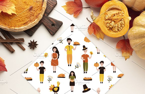 Thanksgiving Font and Graphics Pack in Display Fonts - product preview 9