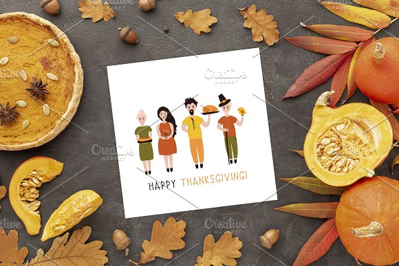 Thanksgiving Font and Graphics Pack in Display Fonts - product preview 10