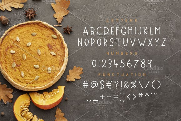 Thanksgiving Font and Graphics Pack in Display Fonts - product preview 12