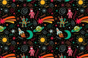 "Seamless pattern ""Funny Space"""