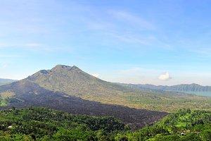 Landscape with  Batur volcano, Bali