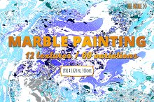 60+ Colorful Marble Paintings Vol.1