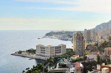 Skyline of Monaco, France